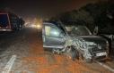 Yola dökülen salçalar nedeniyle kayan 18 araç...