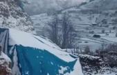 Köylüler güne karla uyandı