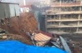 İstinye'de inşaatın istinat duvarı çöktü