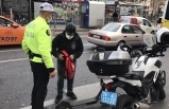 Fatih'te elektrikli scooter denetimi