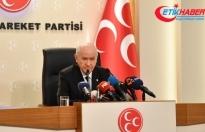 MHP Lideri Bahçeli'den Kılıçdaroğlu'na: Müfterilik, utanmazlık. Keşke bir yalan makinesine bağlanıp bu konuşmasını yapsaydı!