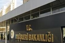 Dışişleri Bakanlığı: ABD Büyükelçisi çağırılarak 'en kuvvetli şekilde' tepkimiz dile getirildi