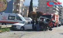 Hatay'da feci kaza kamerada: 5 ölü, 15 yaralı