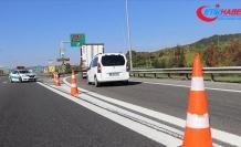 Anadolu Otoyolu Bolu Dağı Tüneli yol çalışması nedeniyle ulaşıma kapandı