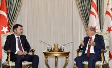 KKTC Cumhurbaşkanı Tatar, Çevre ve Şehircilik Bakanı Kurum'u kabul etti