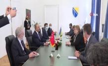 Bakan Çavuşoğlu, Bosna Hersek Devlet Başkanlığı Konseyi Başkanı Dodik ile görüştü