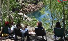 Nemrut Krater Gölü kampçıların uğrak yeri oldu