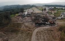 Patlama sonrası devam eden enkaz çalışmaları havadan görüntülendi