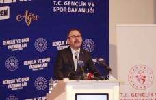 Bakan Kasapoğlu, Ağrı Gençlik ve Spor Protokolü programına katıldı