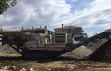 Tekirdağ Büyükşehir Belediyesi'nin 4,5 milyonluk taş kırma makinesini çaldılar
