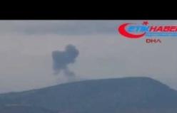 Afrin'deki  terör mevzileri böyle bombalandı
