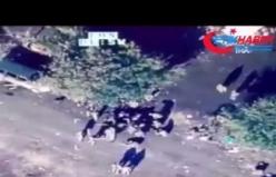 Azerbaycan'a ait TB2 SİHA'lar Ermeni askerlerini vurdu