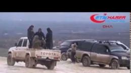 Burseya Dağı'nda ÖSO birlikleri YPG mevzilerini ağır silahlarla ateş altına aldı