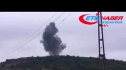 Terörist mevzileri bombalanıyor