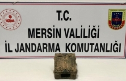 Mersin'de içerisinde el yazması tarihi kitap bulunan bronz sandık ele geçirildi
