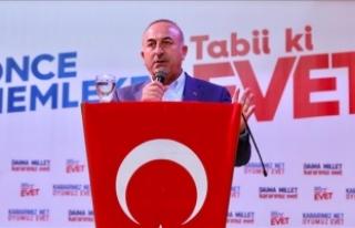 Çavuşoğlu: Batı medyası halk oylaması sürecini...