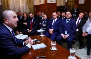 Çavuşoğlu İsviçre'de STK temsilcileriyle...