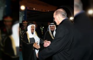 Cumhurbaşkanı Erdoğan Kuveyt Emiri'ni Esenboğa'da...