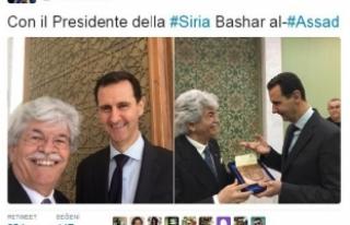 Esad'la selfie çeken İtalyan senatöre tepki