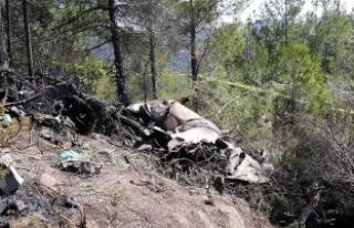 Hatay'a düşen Suriye savaş uçağı enkazının...