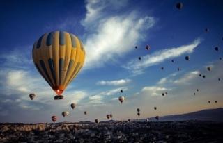 Kapadokya'da sıcak hava balonları sert iniş...