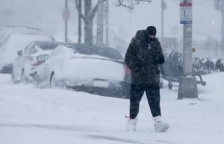 Kar fırtınası ABD'nin kuzey doğusunu etkisi...