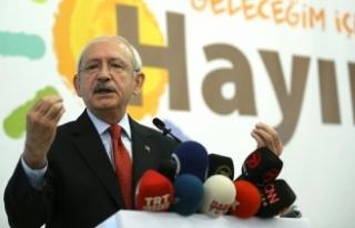 Kılıçdaroğlu: Bu anayasa geçerse bütün yetkileri...