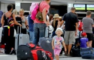 Rus turist sayısı, geçen yılın şubat ayına...