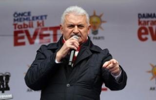 Yıldırım: Türkiye'yi tehdit edenler hayır...