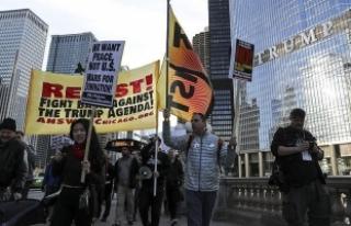 ABD'nin füze saldırısı Chicago'da protesto...