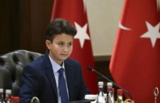 Başbakan Yıldırım çocukları kabul etti