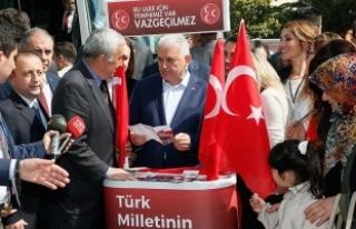Başbakan Yıldırım İzmir'de MHP'nin...