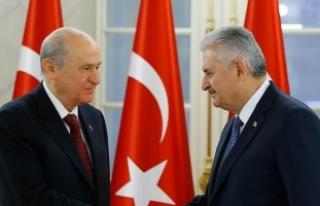Başbakan Yıldırım, MHP Genel Başkanı Bahçeli...