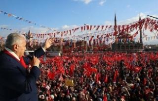 Başbakan Yıldırım: Milletin rüzgarı onların...