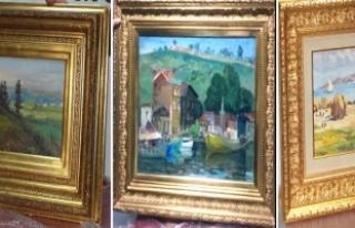 Çalıntı 3 tablo müzeye teslim edildi