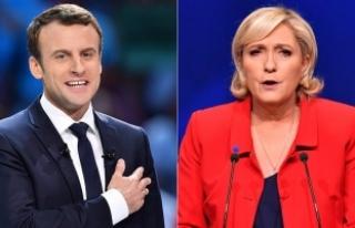 Fransa cumhurbaşkanlığı seçiminde Macron ve Le...