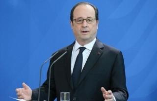 Hollande'dan Macron'a destek