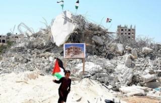 İsrail'in Gazze'de yıktığı evlerin...