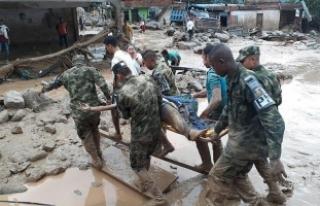 Kolombiya'daki sel felaketinde ölü sayısı...