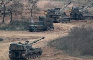 Kuzey Kore gerçek mermilerin kullanıldığı tatbikat...