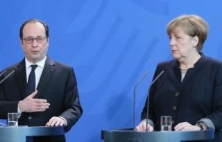Merkel ve Hollande'dan ortak Suriye açıklaması