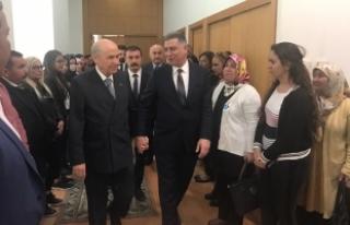 MHP Lideri Bahçeli, Türkmen Cephesi Lideri Erşat...