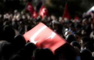 Şehit Uzman Çavuş Düzgün'ün cenazesinde...