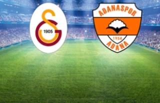 Süper Lig'deki Galatasaray-Adanaspor Maçının...