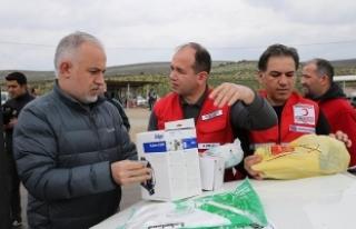 Türk Kızılayından Suriye'ye koruyucu kit...