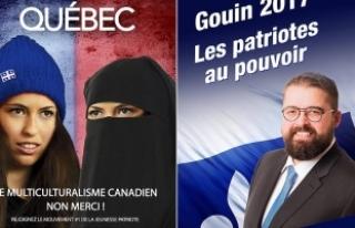 Kanada'da aşırı sağcı adayın seçim afişi...