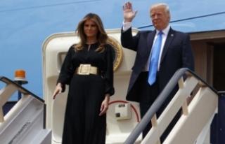 Melania Trump, Suudi Arabistan'a Giden Uçağa...