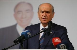 MHP Lideri Bahçeli: TSK'nın yerini alalım demiyoruz