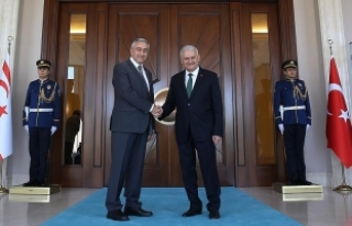 Başbakan Yıldırım, KKTC Cumhurbaşkanı Akıncı...