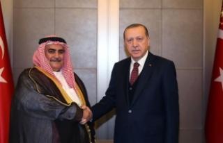 Cumhurbaşkanı Erdoğan Bahreyn Dışişleri Bakanı...